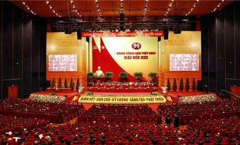越南共产党第十三次全国代表大会第二天议程新闻公报