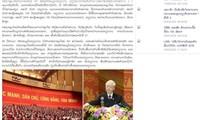Báo chí Lào đề cao đường lối xây dựng CNXH của Việt Nam