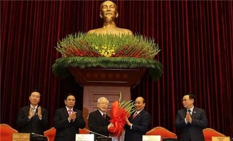 阮富仲同志当选为新一届越共中央总书记