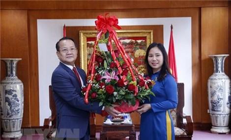 Các lãnh đạo bộ, ngành của Lào chúc mừng ngày thành lập Đảng Cộng sản Việt Nam