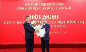 Ông Đỗ Văn Chiến giữ chức Bí thư Đảng đoàn MTTQ Việt Nam