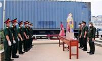 Chúc Tết các đơn vị kết nghĩa thuộc Quân đội Hoàng gia Campuchia