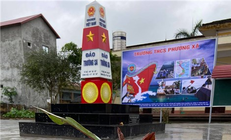 Phú Thọ xây 25 mô hình cột mốc Trường Sa tại các trường học