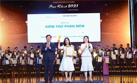 """02 sản phẩm chuyển đổi số """"Make in Vietnam"""" của GMO-Z.com RUNSYSTEM nhận cú đúp danh hiệu Sao Khuê 2021"""