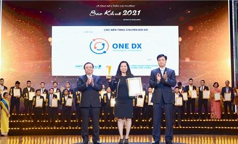 Nền tảng chuyển đổi số ONE DX nhận Giải thưởng Sao Khuê 2021