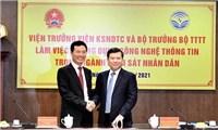 Bộ trưởng Nguyễn Mạnh Hùng làm việc với Viện Kiểm sát Nhân dân tối cao về chuyển đổi số