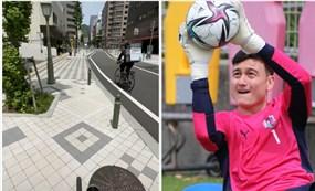 Nhận tin vui từ thầy Park, thủ môn Văn Lâm chăm chỉ ra sân tập với 'bạn đồng hành' mới