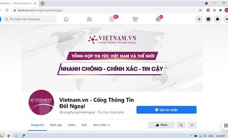 Chính thức ra mắt Fanpage Cổng Thông Tin Đối Ngoại trên Mạng xã hội Facebook.