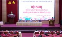 Ứng cử viên đại biểu Quốc hội vận động bầu cử tại Quảng Ninh