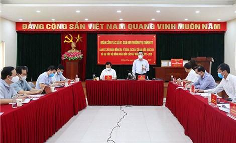 Hà Nội: tập trung bảo đảm tiến độ và chất lượng công tác phục vụ bầu cử
