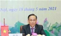 Hội nghị trực tuyến thông báo về kết quả Đại hội XIII của Đảng ta tới Đảng Nhân dân Campuchia
