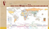 """Ra mắt """"Bản đồ Hành trình 30 năm tìm đường cứu nước của Bác Hồ"""""""