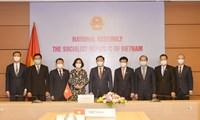 Chủ tịch Quốc hội Việt Nam và Campuchia điện đàm trực tuyến