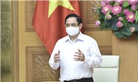 Thủ tướng làm việc với các nhà sản xuất vaccine phòng COVID-19