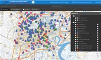 Xem trực tuyến bản đồ tình hình dịch bệnh COVID-19 tại TP.HCM