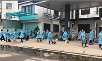 """Another 1,000 workers were taken out of the""""epidemic center"""" of Nui Hieu"""