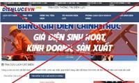 Ba website giả mạo trang thông tin của EVN đã bị ngăn chặn