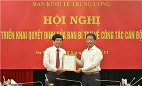 Ông Đỗ Ngọc An giữ chức Phó Trưởng ban Kinh tế Trung ương