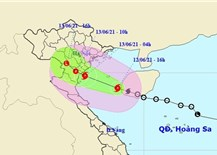 Storm No. 2 enters the Gulf of Tonkin, heavy rain in many central provinces