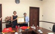 Awarding medals to the Agricultural Counselor of the Embassy of Denmark