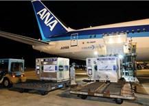 Gần 1 triệu liều vaccine COVID-19 của Nhật Bản tặng Việt Nam đã về đến sân bay Nội Bài