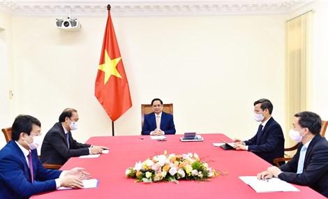 Thủ tướng Phạm Minh Chính điện đàm với Thủ tướng Cuba Manuel Marrero Cruz