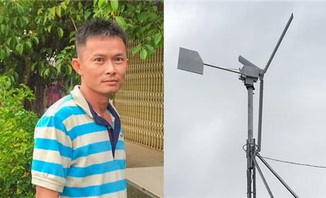 Người đàn ông dành 7 năm tự chế tuabin gió phát điện