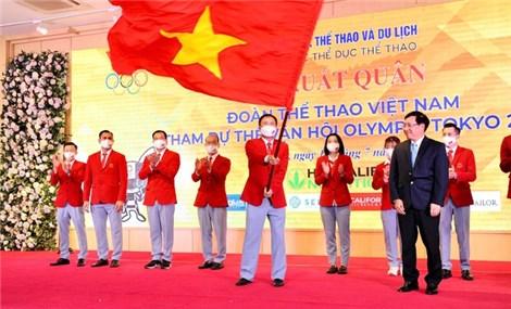 Đoàn thể thao Việt Nam xuất quân dự Olympic Tokyo