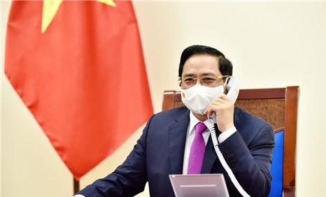 Thủ tướng Phạm Minh Chính điện đàm với Thủ tướng Nội các Hàn Quốc