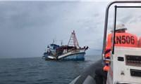 Kiểm ngư Vùng V tuần tra vùng biển Tây Nam chống khai thác bất hợp pháp