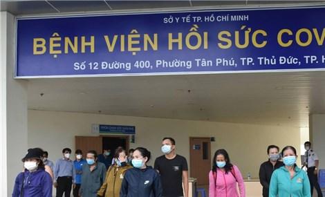 TP Hồ Chí Minh mỗi ngày có 1.500 - 2.000 bệnh nhân mắc COVID-19 được điều trị khỏi