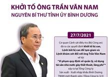Khởi tốông Trần Văn Nam - nguyên Bí thư Tỉnh ủy Bình Dương