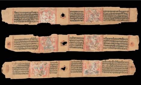 Phát hiện Kinh Phật thời cổ đại được viết trên lá thốt nốt