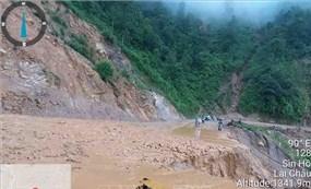 Khắc phục sạt lở tại nhiều tuyến đường giao thông ở Lai Châu