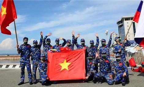 Đoàn Việt Nam xếp hạng 7 tại Army Games 2021
