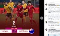 Việt Nam được cổ động viên châuÁ khen ngợi dù thua Australia
