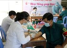 Tuổi trẻ Bình Thuận tổ chức chương trình'Máu hồng giúp dân'