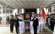 A solemn ceremony to pay respects and memorials to comrade General Phung Quang Thanh