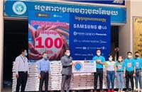 Doanh nghiệp Việt Nam hỗ trợ 100 tấn gạo cho người dân nghèo Campuchia