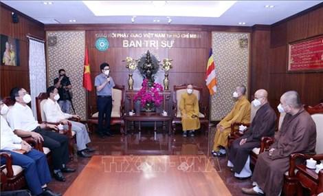 Lãnh đạo Ban Tôn giáo Chính phủ thăm và làm việc với Giáo hội Phật giáo Việt Nam TP Hồ Chí Minh