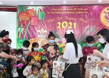 Trung thu đến với các cháu thiếu nhi gốc Việt ở thành phố Preah Sihanouk