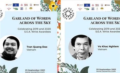 Hai tác giả Việt Nam đoạt Giải thưởng Văn học ASEAN