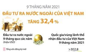 9 tháng năm 2021, đầu tư của Việt Nam ra nước ngoài tăng hơn 32%