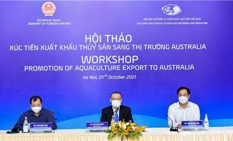Nhiều cơ hội cho xuất khẩu thủy sản sang thị trường Australia