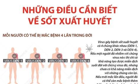 Những thông tin cần biết về bệnh sốt xuất huyết