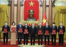 Chủ tịch nước trao Quyết định bổ nhiệm đại sứ Việt Nam ở nước ngoài